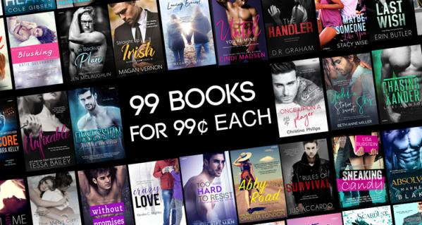 Embrace Sale banner 99 books 99 cents